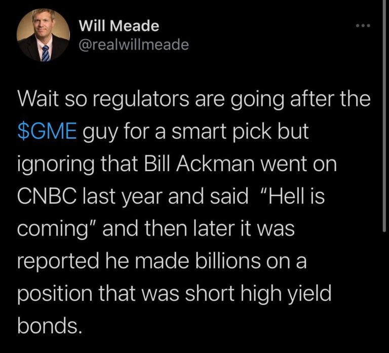 If they go after DFV for this, SEC is really sick in the head. One of the few guys that actually did serious DD and stuck to his guns. He didn't start a rally, we just followed the path.