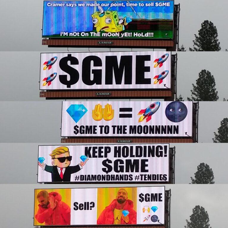 Billboard scene in Portland