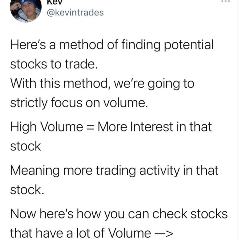 """I get a lot of questions on how I """"scan"""" for stocks and how I look for potential…"""