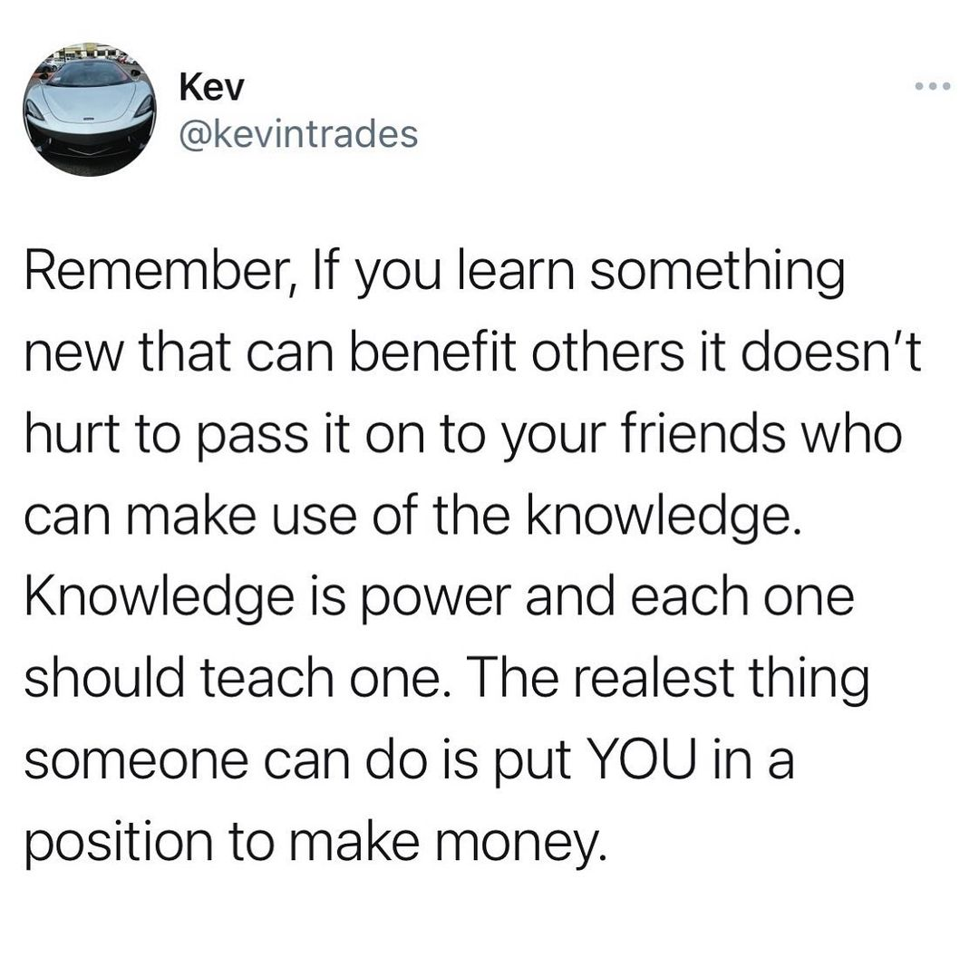 Each one should teach one. Knowledge is power and if you want to empower those a…