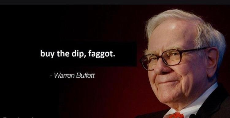 A message from Warren Buffett about the dump today
