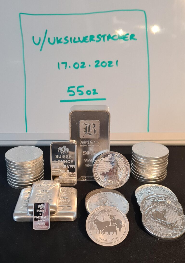 Hello from the UK! My current stack – hoping to grow it to 100oz in the next few months! Proud member of Wall Street Silver.