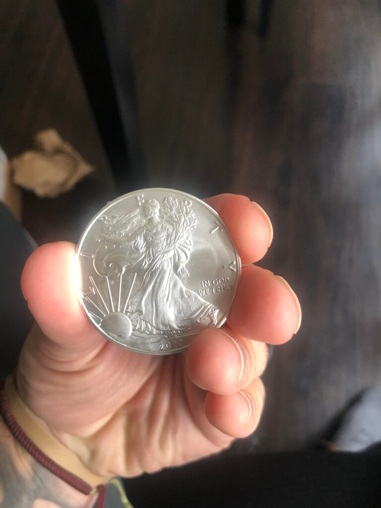 My 1st Reddit Post. Happy to join the Silver Gang. 1 of my 200 ounces. Strong Together!