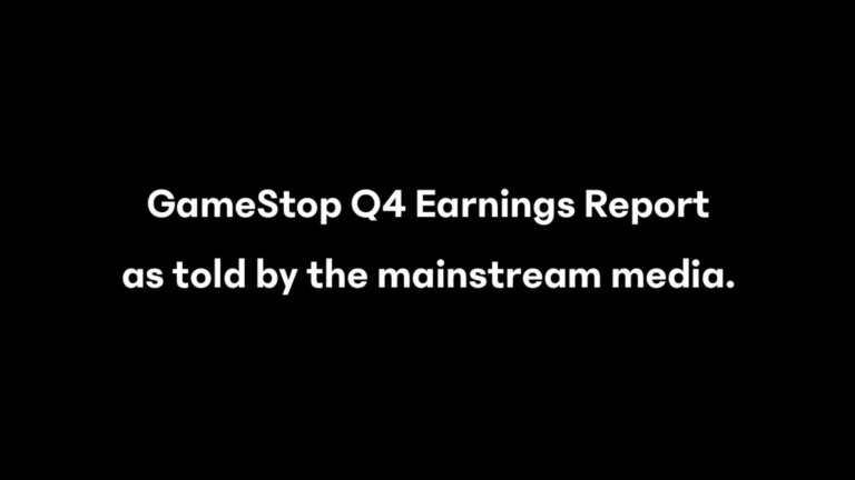 GME Q4 Earnings Analysis by an Autist.