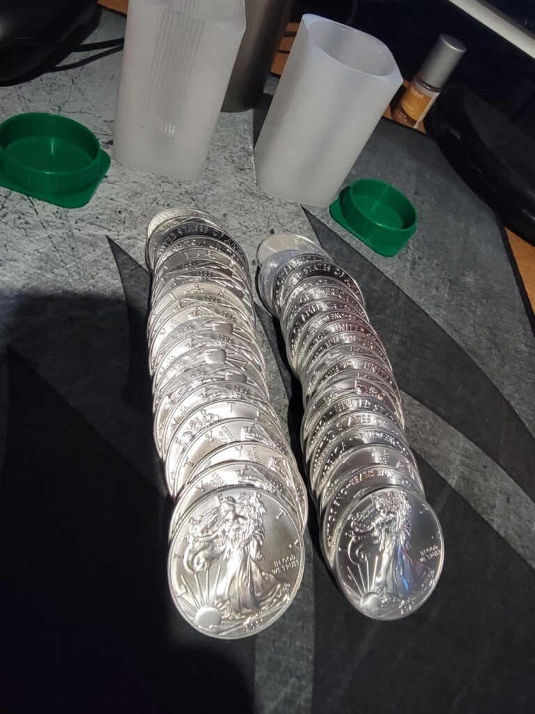Just Doing My Part, again! Was excited to get some more physical silver in my possession outside of PSLV! 50oz total now!