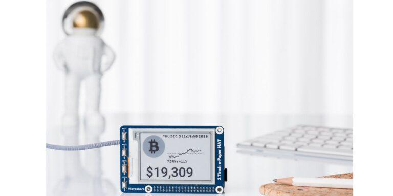 Market price ticker – uses a Raspberry Pi