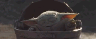 Baby Yoda is helping us get there guys