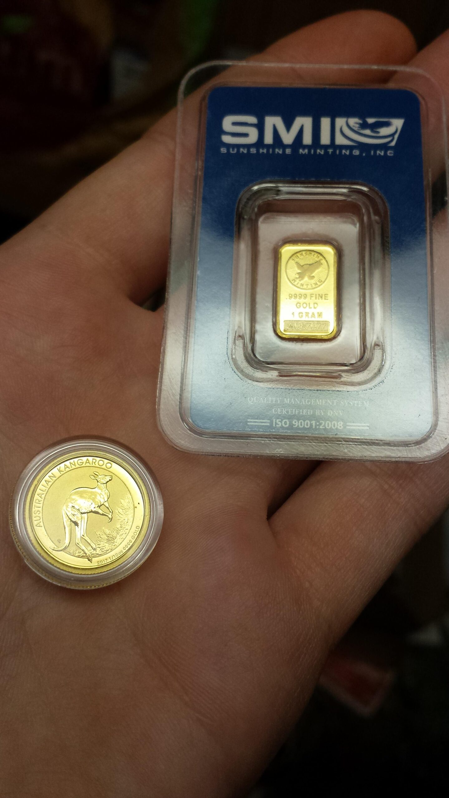 Gold is a very good one to have. Can't believe how much wealth can be so smol. Likeasumboodeee
