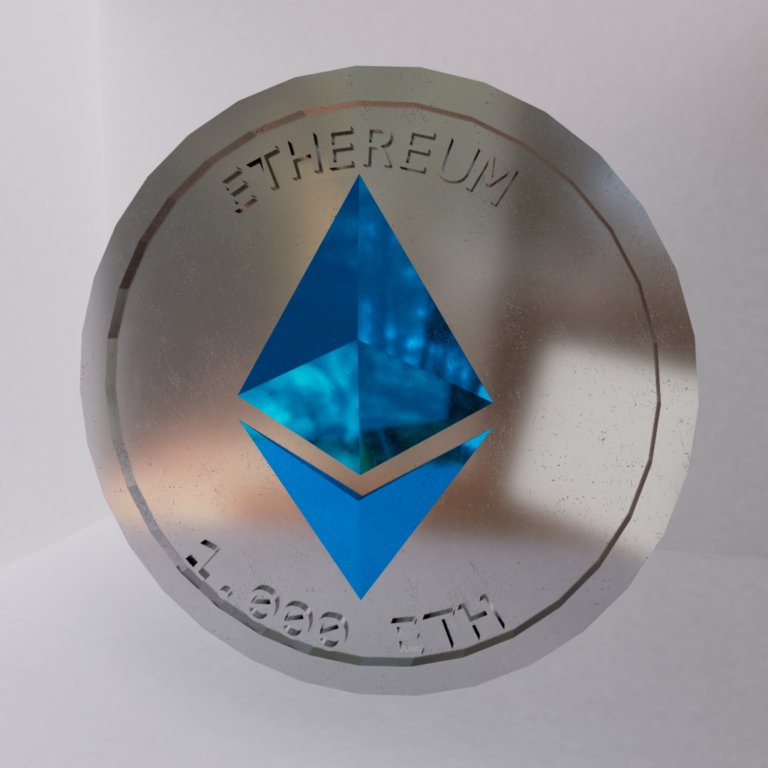 I created a model of an Ethereum Coin!