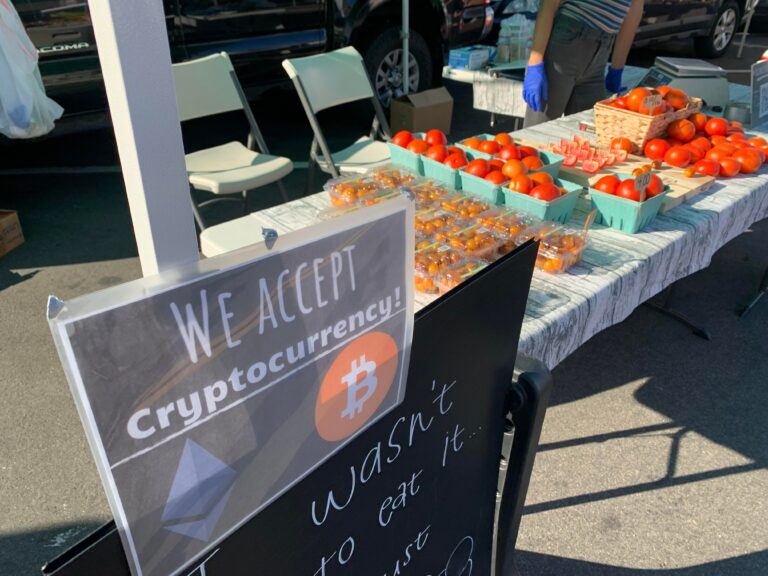 Accepting Eth at my farmers market stand!
