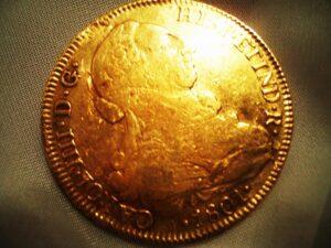 PIRATE TREASURE! Gold 8 Escudos Spanish Doubloon
